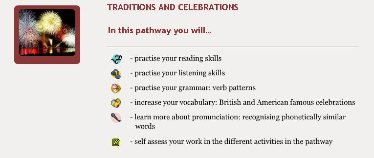 Traditions and Celebrations - Objectives