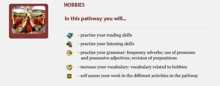 Hobbies - Objectives