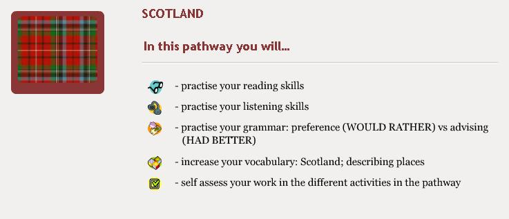 Scotland pathway objectives