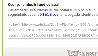 Embedir Edu3.cat