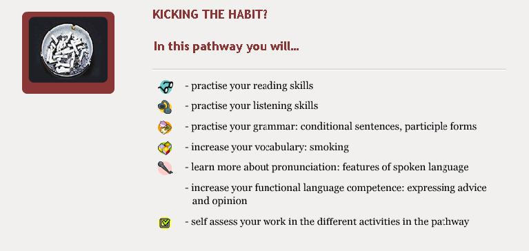 Kicking the Habit - Objectives