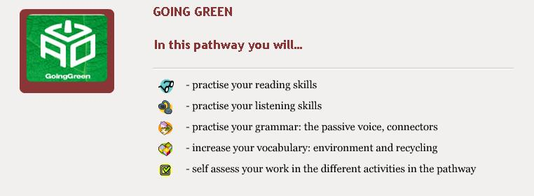 Going Green - Objectives